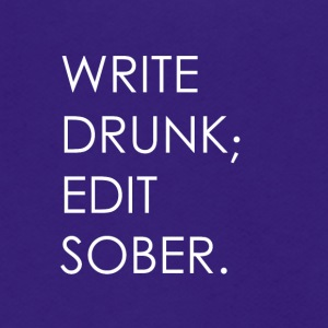 Write Drunk; Edit Sober - whitetext - Unisex Fleece Zip Hoodie by American Apparel