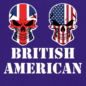 British American Flag Skulls - Unisex Fleece Zip Hoodie by American Apparel