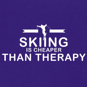 Skiing is cheaper than therapy - Unisex Fleece Zip Hoodie by American Apparel