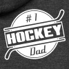 #1 Hockey Dad - Unisex Fleece Zip Hoodie