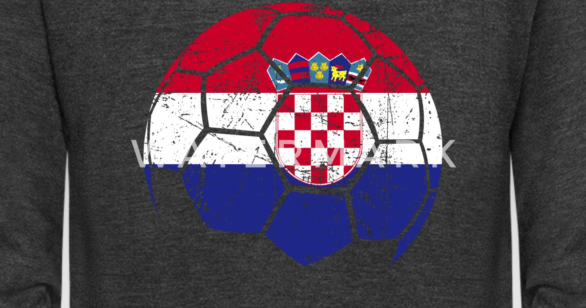 a6b2f9b5a7d Croatia Soccer Football Ball Unisex Fleece Zip Hoodie | Spreadshirt