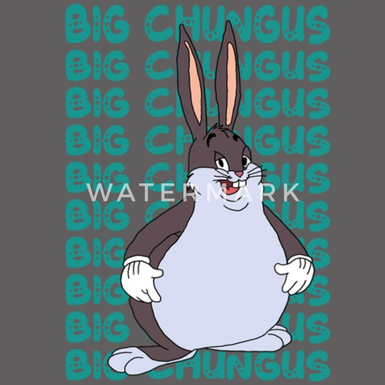 Funny Big Chungus Meme Lovers Fat Rabbit Unisex Fleece Zip Hoodie