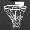 Basketball or Netball hoop net - Unisex Fleece Zip Hoodie