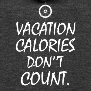 Vacation Calories Don't Count T-shirt - Unisex Fleece Zip Hoodie by American Apparel