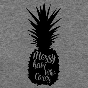Messy hair who cares, pineapple silhouette - Women's Wideneck Sweatshirt