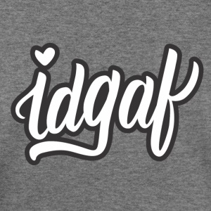 IDGAF (White) - Women's Wideneck Sweatshirt