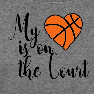 my heart is on the court - Women's Wideneck Sweatshirt