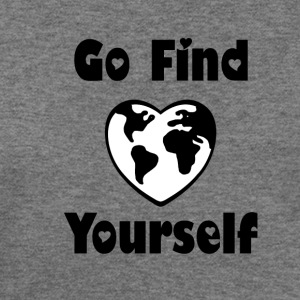 Go Find Yourself (Black) - Women's Wideneck Sweatshirt