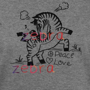 Zebra Love Shirt - Women's Wideneck Sweatshirt