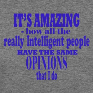 intelligent people - Women's Wideneck Sweatshirt