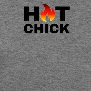 HOT CHICK TSHIRT APPAREL ACCESSORIES DESIGN - Women's Wideneck Sweatshirt
