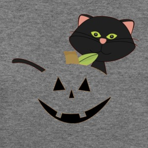 Halloween Jack-O'-Lantern T-Shirt with Boo - Women's Wideneck Sweatshirt