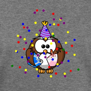 Party Owl Confetti Celebration - Women's Wideneck Sweatshirt