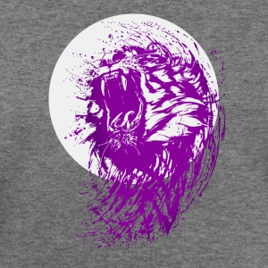 tiger purple wild biker club swag amazing lol part - Women's Wideneck Sweatshirt