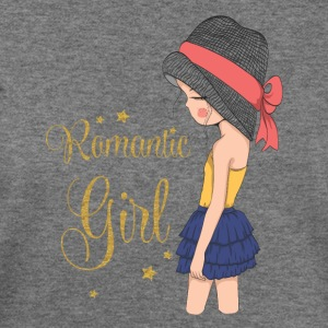 Romantic Girl Design - Women's Wideneck Sweatshirt