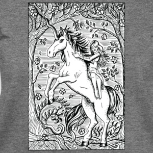 Unicorn Ride A Horse Gift Shirt Preminium - Women's Wideneck Sweatshirt
