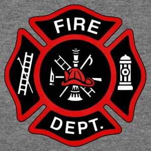 Red Fire Department Badge - Women's Wideneck Sweatshirt