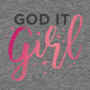 God it Girl - Pinkish Red - Women's Wideneck Sweatshirt