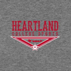 Heartland College Sports logo - Women's Wideneck Sweatshirt
