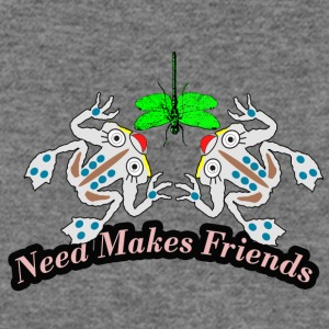 need makes friends - Women's Wideneck Sweatshirt