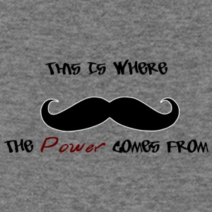 Mustache Power - Women's Wideneck Sweatshirt