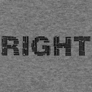 right wrong - Women's Wideneck Sweatshirt