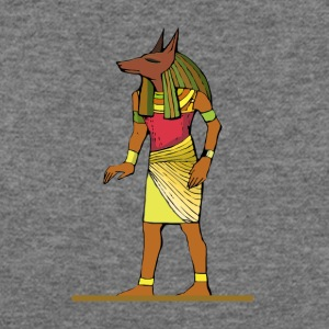 Ancient Egyptian Painting - Anubis, the Wolf God - Women's Wideneck Sweatshirt