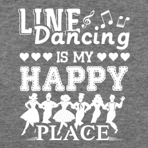 Line Dancing Is My Happy Place Shirt - Women's Wideneck Sweatshirt