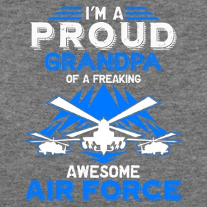 Air Force Grandpa Proud Shirt - Women's Wideneck Sweatshirt