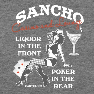 Sancho casino and lounge Liquor in the front - Women's Wideneck Sweatshirt