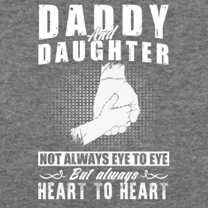 Daddy and daughter not always eye to eye - Women's Wideneck Sweatshirt