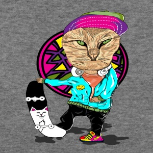 Skateboard Cat - Women's Wideneck Sweatshirt