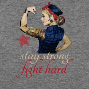 stay strong fight hard tattoo - pinup Girl - Women's Wideneck Sweatshirt