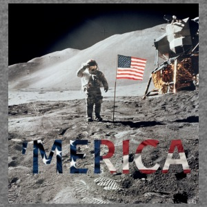 MERICA MOON - Women's Wideneck Sweatshirt
