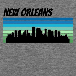 Retro New Orleans Skyline - Women's Wideneck Sweatshirt