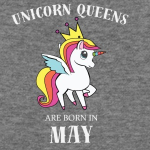 UNICORN QUEENS ARE BORN IN MAY - Women's Wideneck Sweatshirt