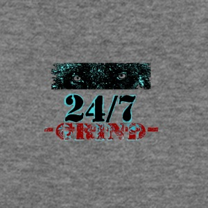 24 7 Grind b132 - Women's Wideneck Sweatshirt