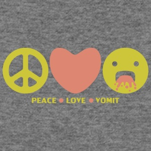 Peace love vomit anti hippie smiley emoticon - Women's Wideneck Sweatshirt