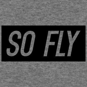 So Fly logo design - Women's Wideneck Sweatshirt
