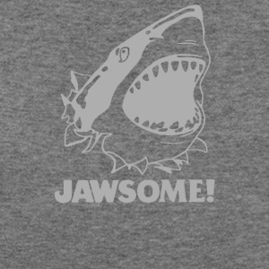 funny vintage soft Jawesome Jaws copy - Women's Wideneck Sweatshirt