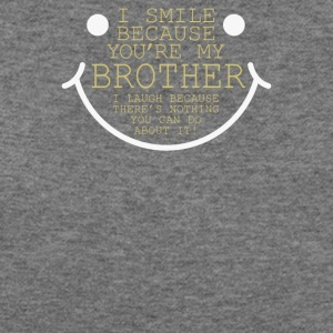 I Smile Cause Brother - Women's Wideneck Sweatshirt