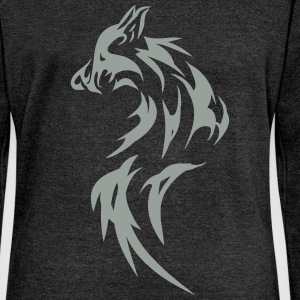wolf, dog, fox - Women's Wideneck Sweatshirt