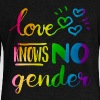 Love Knows No Gender LGBT Pride Rainbow - Women's Wideneck Sweatshirt
