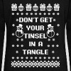 Don't Get Your Tinsel In A Tangle - Women's Wideneck Sweatshirt