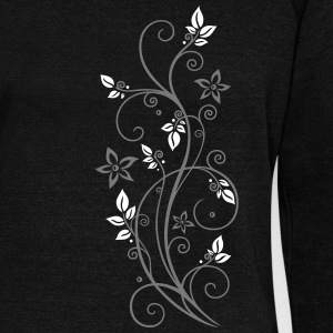 Filigree tendril with leaves and flowers. - Women's Wideneck Sweatshirt
