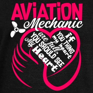 Aviation Mechanic Shirt - Women's Wideneck Sweatshirt