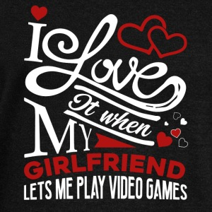 Video Gamer Shirt - Video Gamer Girlfriend T-Shirt - Women's Wideneck Sweatshirt