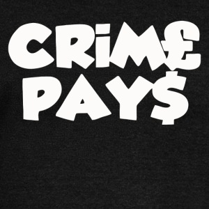 CRIME PAYS - Women's Wideneck Sweatshirt