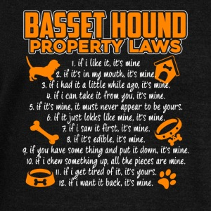 BASSET HOUND PROPERTY LAWS SHIRT - Women's Wideneck Sweatshirt