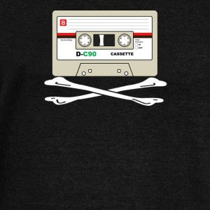 Cool Retro Cassette Tape Crossbones Shirt - Women's Wideneck Sweatshirt